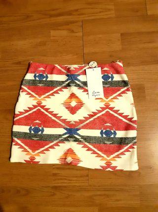 falda étnica zara