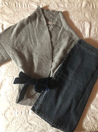 Conjunto chaqueta y falda vaquera