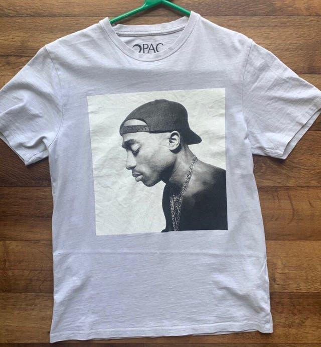 2pac printed t-shirt