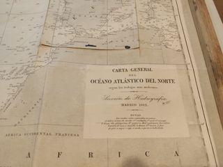 CARTA GENERAL OCÉANO ATLÁNTICO DEL NORTE 1912