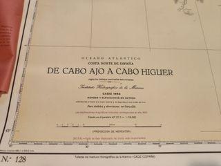 CARTA NAVEGACIÓN AÑOS 50 DE CABO AJO A CABO HIGUER