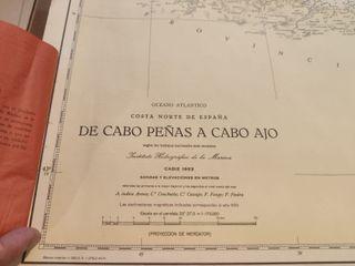 CARTA NAVEGACIÓN AÑOS 50 CABO PEÑAS A CABO AJO
