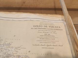 CARTA NAVEGACIÓN AÑOS 50 GOLFO DE VIZCAYA