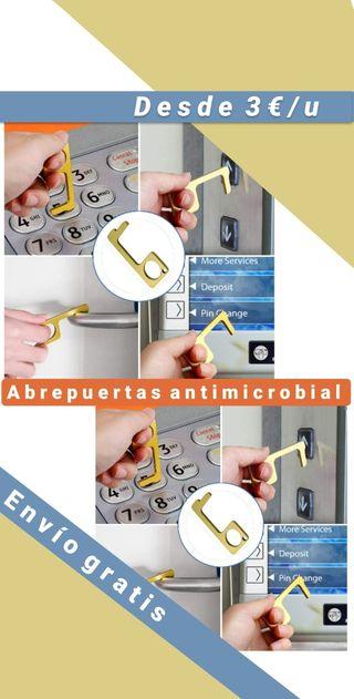 Abrepuertas antimicrobial, llavero, antibacterial
