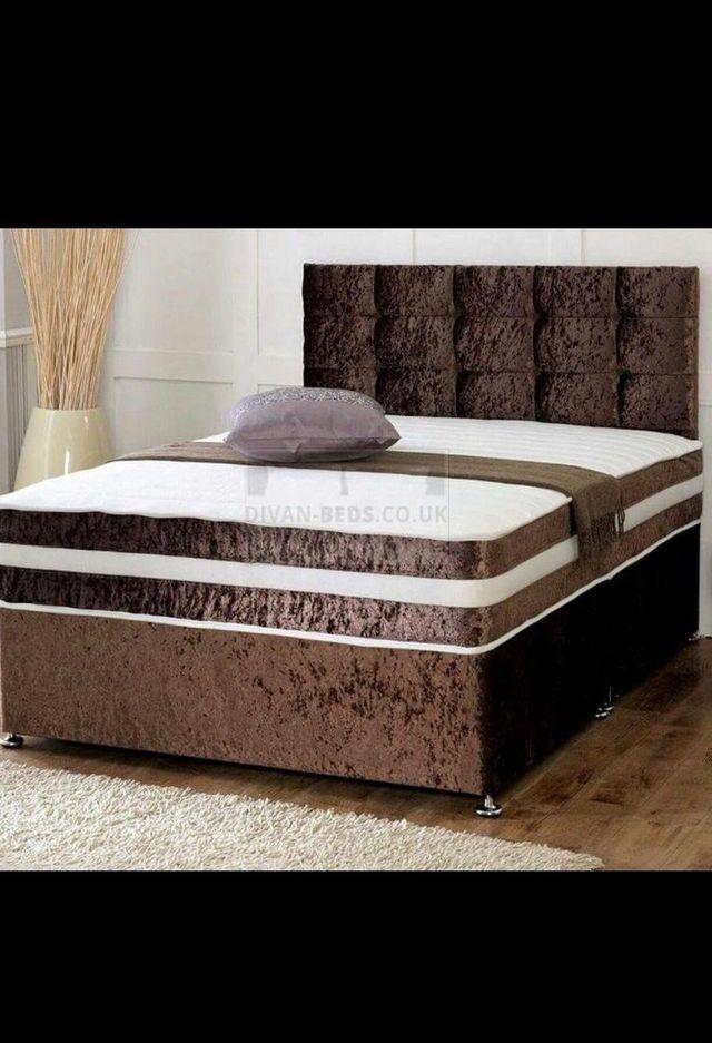 Brand New Crushed Velvet Divan Beds