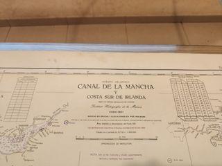 CARTA NAVEGACIÓN CANAL DE LA MANCHA Y COSTA IRLAND