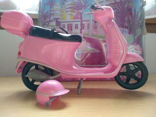 Moto + Casco Barbie