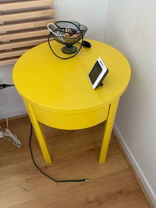 Table de chevet jaune STOCKHOLM IKEA