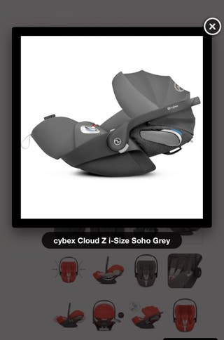 Cybex Cloud Z i-Size + base + fundas