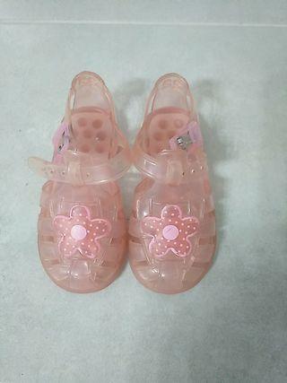 Zapatillas playa niña, talla 22