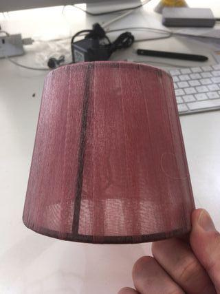 Pantalla para lámpara bombilla vela