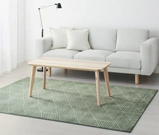ALFOMBRA VERDE STENLILLE IKEA pelo corto