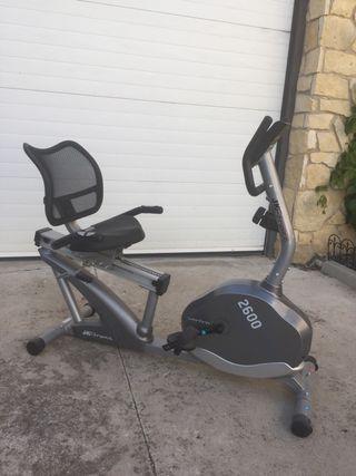Bicicleta estática horizontal JK Fitness Performa
