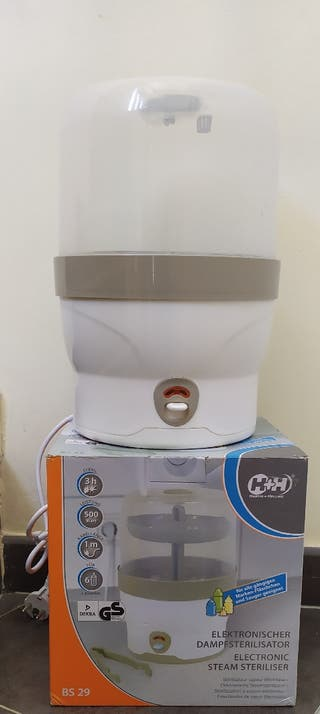 Esterilizador de vapor electrónico de biberones