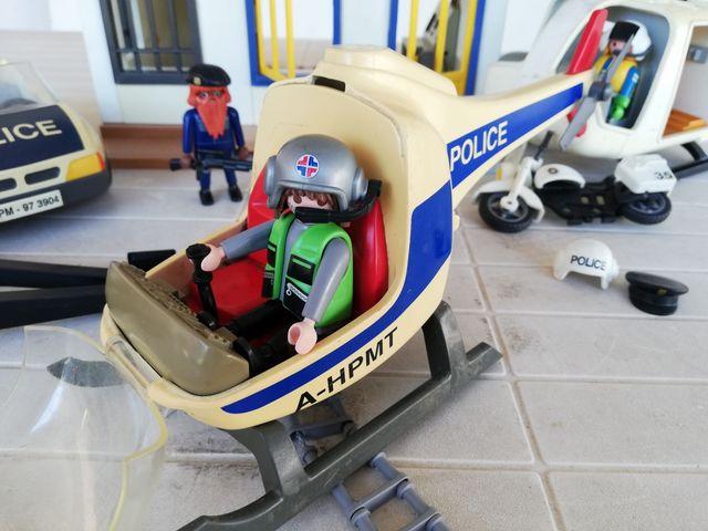 Policía Playmobil Avión Coche, Helicópteros y Moto