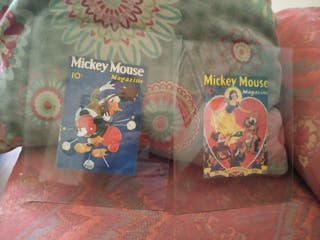 2 Tarjetas Postales Walt Disney 1936 y 1938