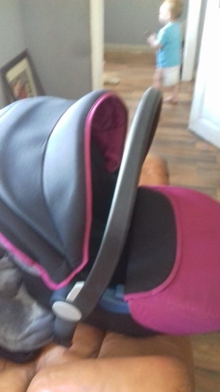 silvercross pram and carseat pink and black