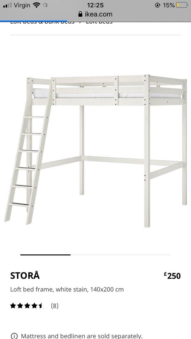 IKEA LOFT/ Raised double bed frame