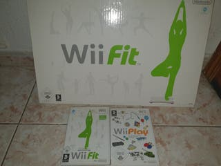 Tabla wii fit + juegos wii fit y wii play