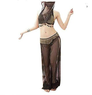 traje sexy arabe transparencia