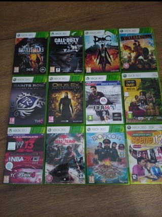Lote juegos Xbox 360. No vendo suelto.