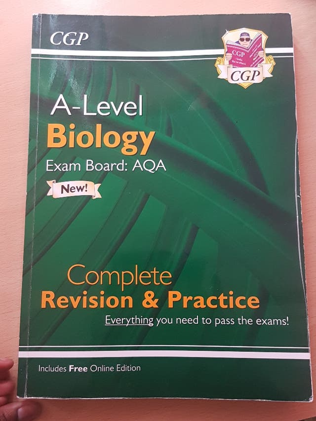 A level Biology and GCSE books