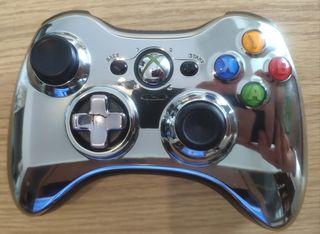 Mando Xbox 360 inalámbrico cromado