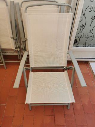 sillas de tela y hierro