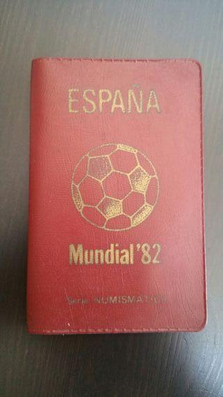 SERIE NUMISMATICA MONEDAS ESPAÑA MUNDIAL '82 1980