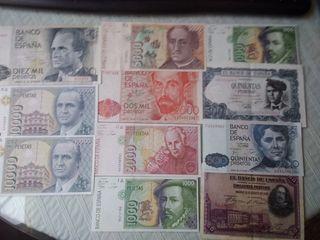 Pesetas numismatica. Billetes y monedas
