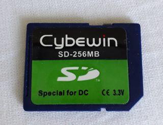 Tarjeta SD de momoria 250MB CYBEWIN