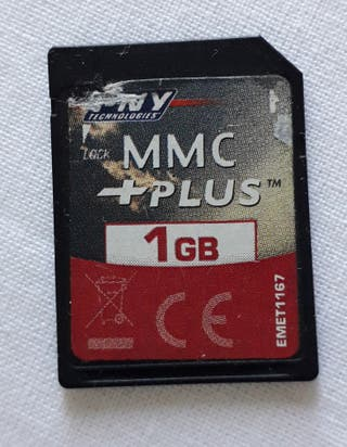 Tarjeta SD de memoria 1GB MMC PLUS