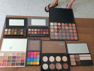 pack 7 paletas makeup. NYX, MAKEUP REVOLUTION Y..
