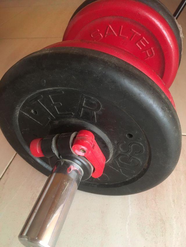 Mancuerna Salter 15 kg