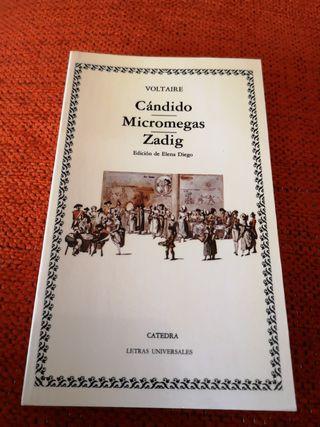 Libro CÁNDIDO/MICROMEGAS/ZADIG.