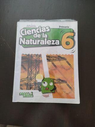 Ciencias de la naturaleza 6 Anaya. Forrado.