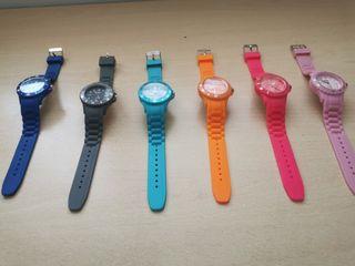 Relojes de silicona varios colores