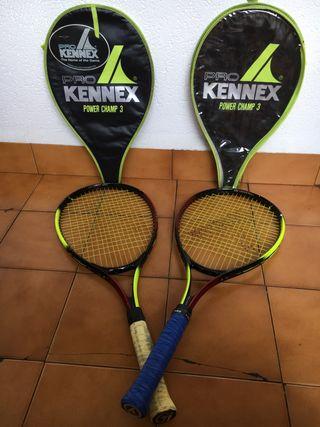 Set de 2 raquetas de tenis junior