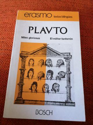 Libro titulado PLAVTO.