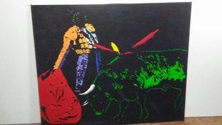 Gran ocasión, cuadros d toreros, oleós/ lienzos