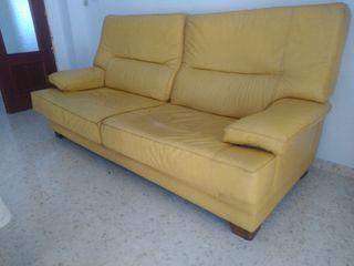 sofá piel auténtica