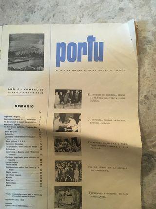 Revista de empresa de altos hornos d Vizcaya 1962