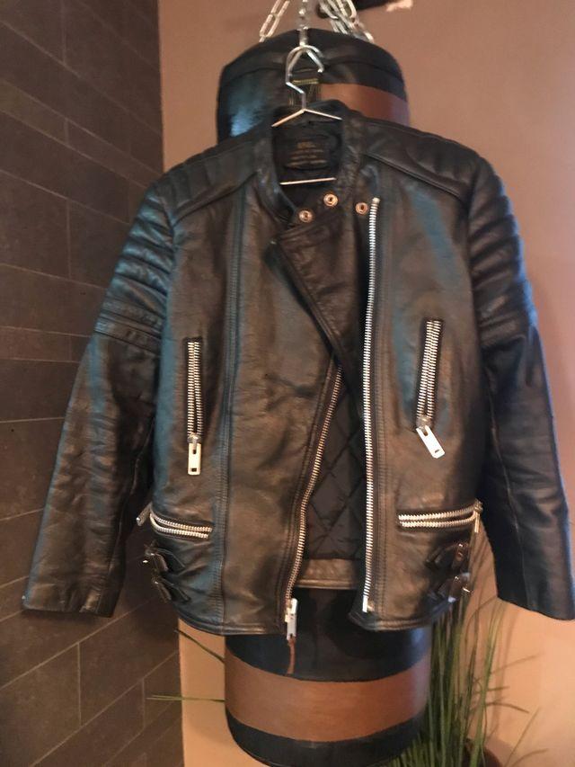 Chupa chaqueta de cuero motera hombre