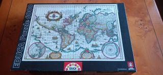 Puzzle 6000 piezas Mapamundi antiguo