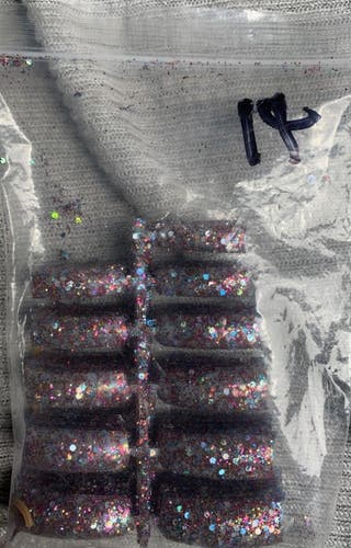 Glitter nails tips