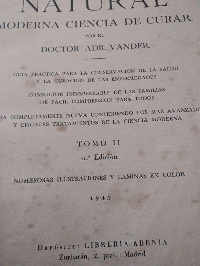 libro del año 1949 Medicina Natural
