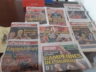 periódicos mundial y eurocopa españa