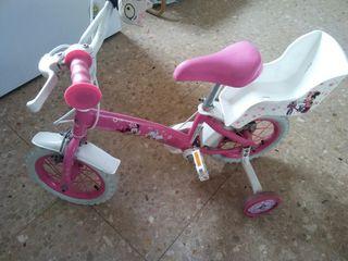 Bicicleta de niña de minnie