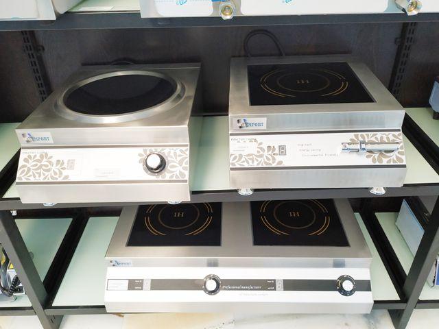 Cocina de inducción de 1 fuego, 2 fuegos y wok