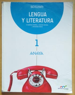 Libro Lengua y Literatura 1° Bachillerato Anaya